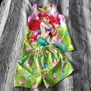 Other - Girls Little Mermaid Pajamas size 7